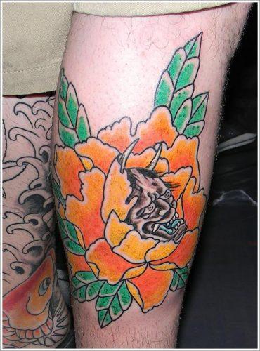 tatuajes flor peonia peony3