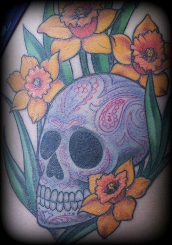tatuajes de flor narciso16