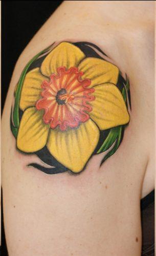 tatuajes de flor narciso17