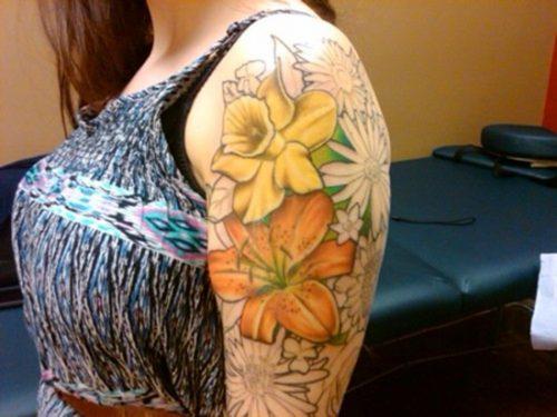 tatuajes de flor narciso22