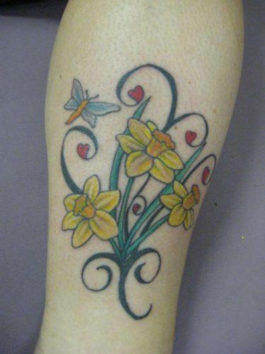 tatuajes de flor narciso23