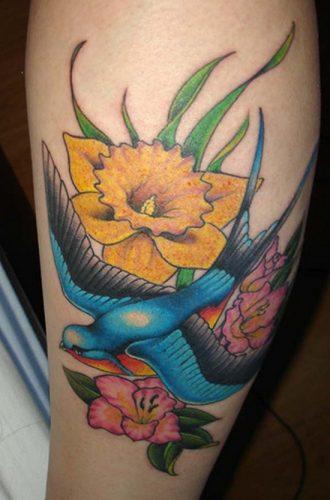 tatuajes de flor narciso27