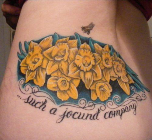 tatuajes de flor narciso30