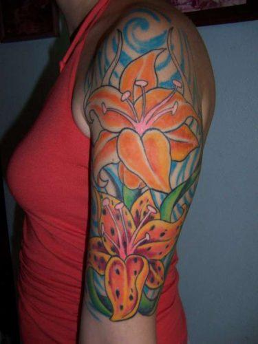 tatuajes de lirios de tigre14
