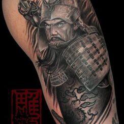 25 diseños de tatuajes de Samurai