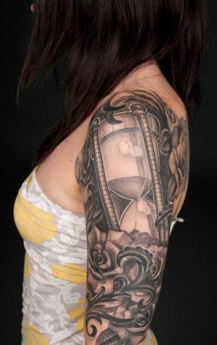 tatuajes de relojes de arena11