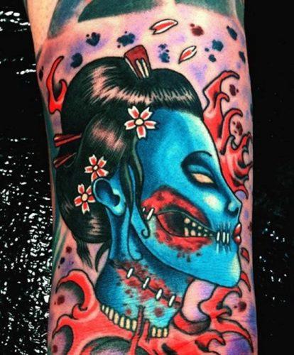 tatuajes de geishas22