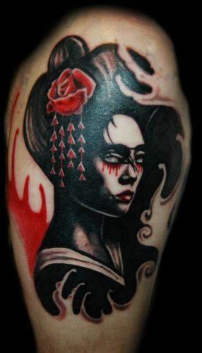 tatuajes de geishas23