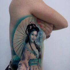 30 hermosos y sensuales tatuajes de Geishas