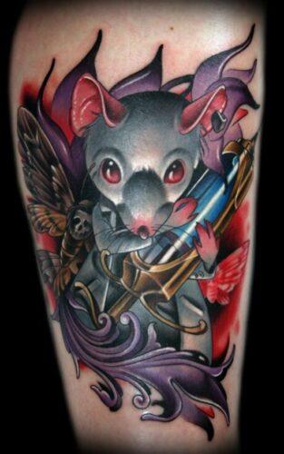 tatuajes de ratones y ratas23