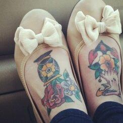 43 tatuajes originales para los pies