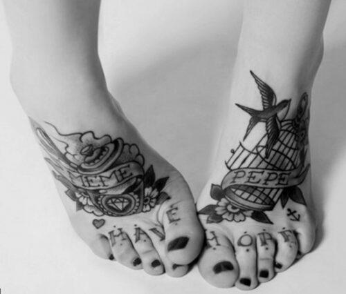 tatuajes para los pies33