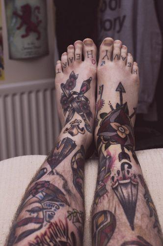 tatuajes para los pies36