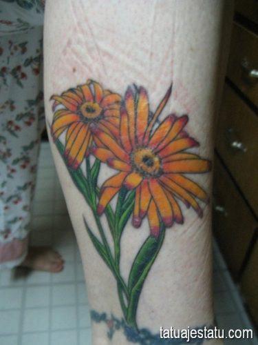 tatuajes de margaritas flor12