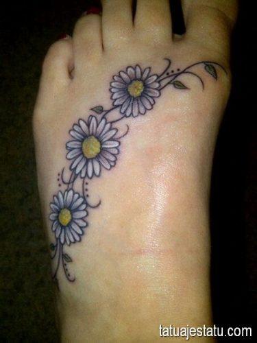 tatuajes de margaritas flor13