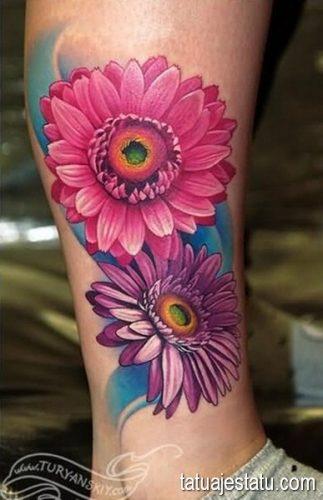 tatuajes de margaritas flor15