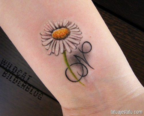 tatuajes de margaritas flor29