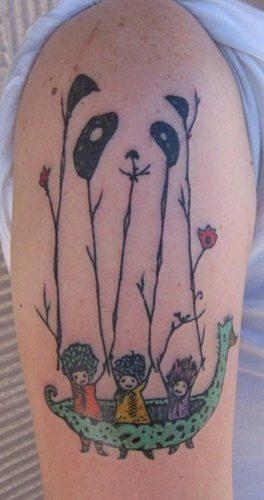 tatuajes de pandas22