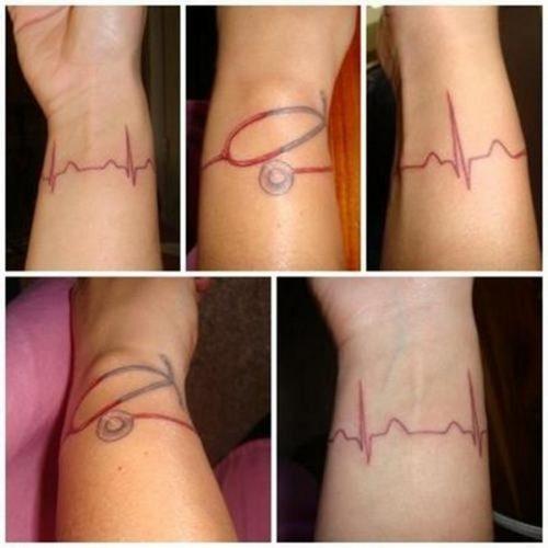 tatuajes de medicina, médicos y enfermedades20