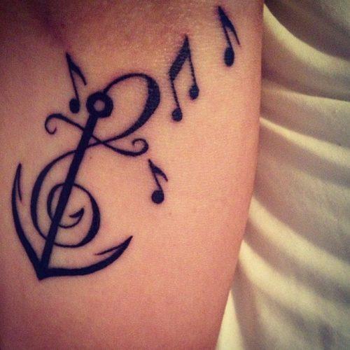 Tatuajes Pequenos De Notas Musicales