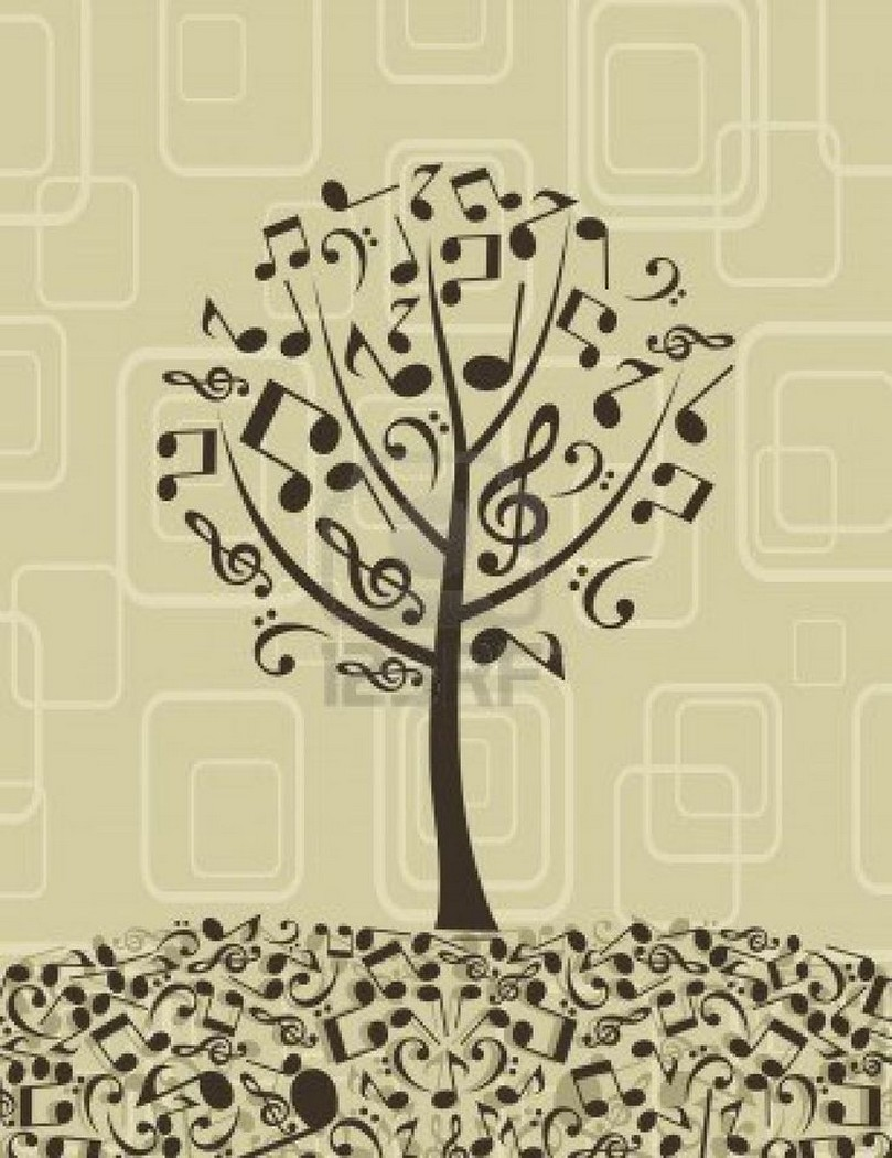 Music note art prints