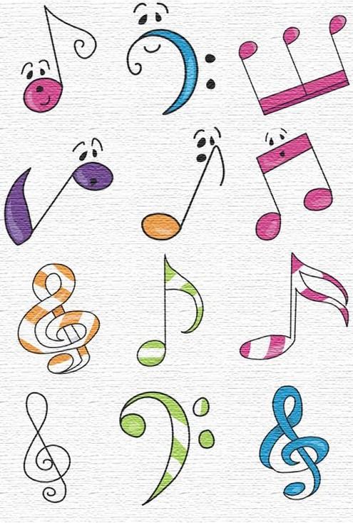 Tatuajes Pequeos De Notas Musicales