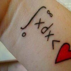 26 tatuajes de matemáticas para estudiosos