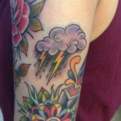 30 hermosos diseños de tatuajes de lluvia